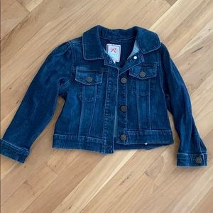 Like new dark denim / jean jacket little girl 4